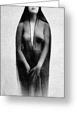 Nude In Sheer Clothing Greeting Card