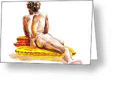 Nude Male Model Study Vi Greeting Card