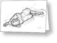 Nude Male Sketches 4 Greeting Card