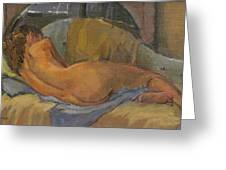 Nude On Chaise Longue Greeting Card
