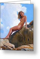 Nude On The Rocks Greeting Card