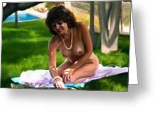 Nude Picnic 2 Greeting Card