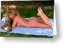 Nude Picnic 3 Greeting Card