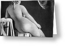 Nude Posing: Rear View Greeting Card