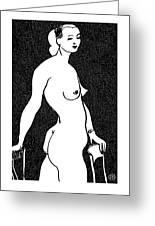 Nude Sketch 4 Greeting Card