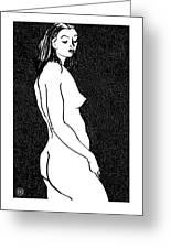 Nude Sketch 8 Greeting Card