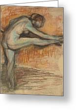 Nude Study For A Dancer At The Bar Greeting Card