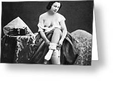 Nude Undressing, C1850 Greeting Card