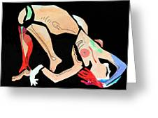 Nude With Red Glove Greeting Card by Diane Fine