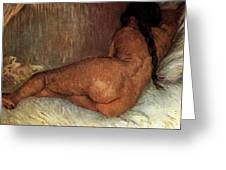 Nude Woman Reclining Greeting Card