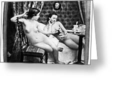 Nudes Having Tea, C1850 Greeting Card