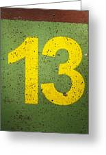 Number 13 Greeting Card
