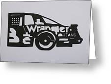 Number 3 Car Wrangler Greeting Card