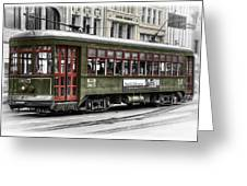 Number 965 Trolley Greeting Card