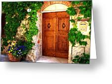 Number Three In San Gimignano Tuscany Greeting Card