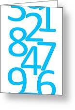 Numbers In Blue Greeting Card