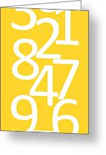 Numbers In Yellow And White Greeting Card