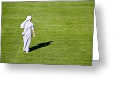 Nun On Green Soccer Field Greeting Card by Brch Photography