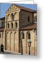 Nun Walking Greeting Card