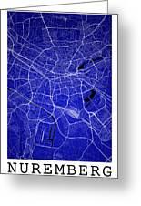 Nuremberg Street Map - Nuremberg Germany Road Map Art On Colored Greeting Card