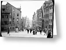 Nuremberg Street Scene 1903 Vintage Photograph Greeting Card