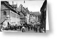 Nuremberg Street Scene Greeting Card