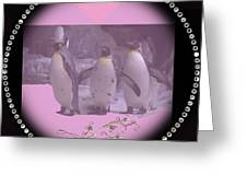 Nursery And Childrens Series Penguins Greeting Card