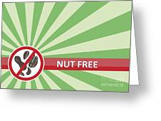 Nut Free Banner Greeting Card
