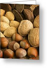 Nuts On Burlap Greeting Card