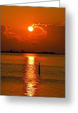 Nwfl Golden Sunset I Mlo Greeting Card