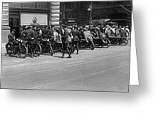 Ny Armored Motorcycle Squad  Greeting Card