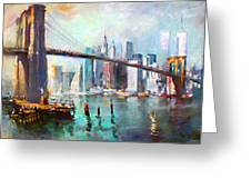 Ny City Brooklyn Bridge II Greeting Card