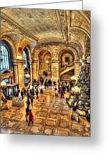 Ny Library Foyer Greeting Card