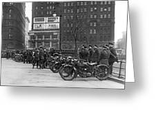 Ny Motorcycle Police Greeting Card