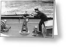 Ny Police Boat Patrol Greeting Card