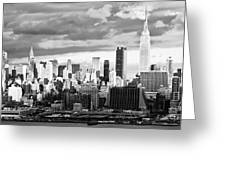 Ny Skyline Light And Shadows Greeting Card