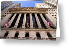 Ny Stock Exchange Greeting Card