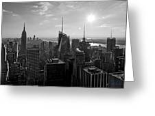 Ny Times Skyline Bw Greeting Card