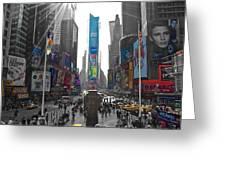 Ny Times Square Greeting Card