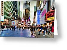Ny Times Square Impressions I Greeting Card