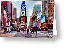 Ny Times Square Impressions IIi Greeting Card