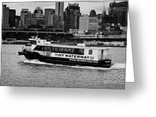 Ny Waterway Ferry Douglas B Gurian From New Jersey To New York City Greeting Card