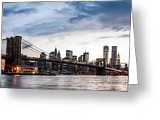 Nyc Brooklyn Bridge Greeting Card
