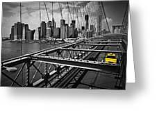 Nyc Brooklyn Bridge View Greeting Card