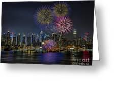 Nyc Celebrates Fleet Week Greeting Card by Susan Candelario