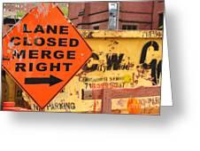 Nyc Construction Graffiti  Greeting Card