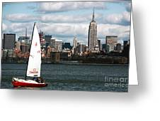Nyc Harbor View Greeting Card