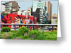 Nyc-high Line Billboard Art Greeting Card