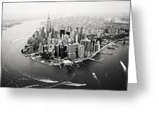 Nyc Manhattan Aerial Greeting Card