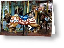 Nyc - Old Glory Pony Greeting Card by Richard Reeve